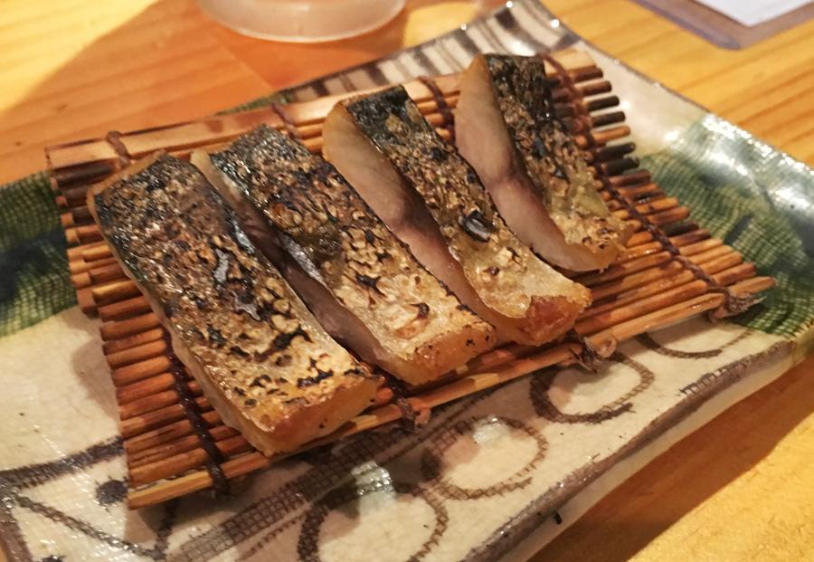 鯖の燻製炙り