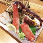 蟹刺しを食べる!!豊川市の「北海道」