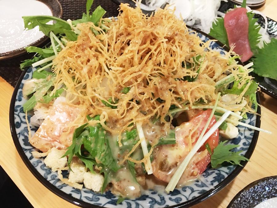 雲仙のサラダ