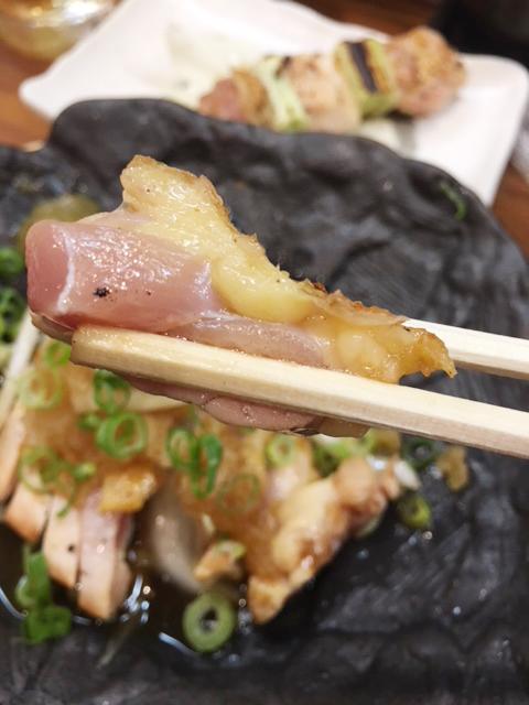 豊川のバードハウスの胸肉のたたき