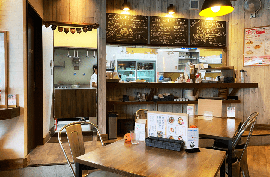 coco cafe(ココカフェ)店内